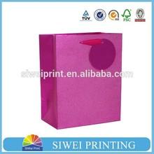 China factory customized printed pink gift bag/gift bag paper