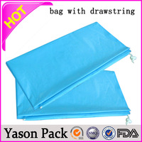 Yason small fabric drawstring bags customized design irregular style hang tags with paper string custom silk drawstring bags