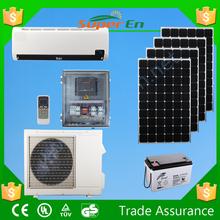 solar car air conditioner, 48v 100% dc 12000btu cooling&heating solar air condtioner