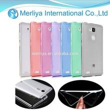 Slim TPU Crystal Clear Case For Huawei Ascend Mate 7 TPU cover