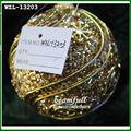 ouro flexível linha de vara plástica bola natal decorativos
