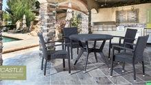 Beata Austria Outdoor Home furniture UV resistant wicker Rattan Cane Garden Dining Furniture