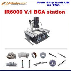 EU countries free ship , No tax! LY IR6000 V.1 bga ir soldering station + Direct Heat stencils 324pcs, solder balls, flux