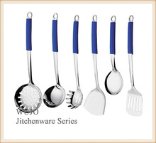 Best quality stainless steel utensils set with silicone handle