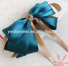 2015 Factory Handmade charm silk bowknot hair clips for girls