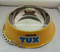 FDA approved heap Cartoon plastic dog bowls /Melamine pet bowls