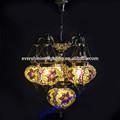 Evershining marca 2015 nuevo diseño 6 cristal hechos a mano de artesanía mosaico lámpara turco antiguo colgante de luz YMA421