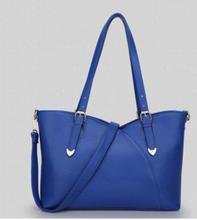 Fashion latest ladies korean style leather handbag alibaba supplier pretty PU handbag