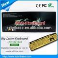 Mejor precio USB / PS / 2 teclado letra grande teclado del ordenador portátil a USB adaptador para las personas mayores se preocupan venta