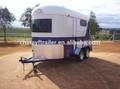 Cavalo reboque caixa para venda barato cavalo float trailer com ar- condicionado