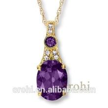 Moda y fino colgante de joyas de piedras preciosas para el regalo