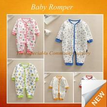 Organic cotton newborn baby clothes jumpsuit kids clothing wholesale SFUDR-045