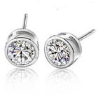 Crystal Earrings Zircon Earring Hot Sale Round Stub Earring