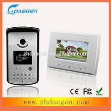 2 door station Access control 7inch intercom video and 4 indoor monitor door phone