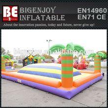 Tropical theme inflatable air mountain