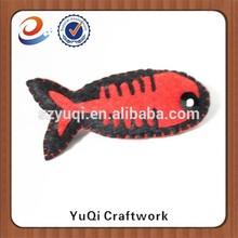 new productts promotional children lovely felt fish shape badge