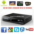 Quad Core H.265 4K Android DVB-S2 International Satellite TV Receiver vu solo 2