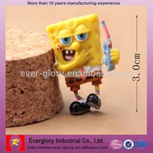 Cheap Saling Crtoon Moive Character Plastic Toy Figure Spongebob Squarepants