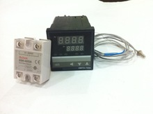96*96,digital PID temperature controller,K type thermocouple with relay SSR