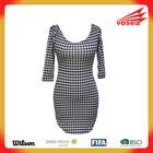 Houndstooth Off-shoulder Mini Dress designer one piece dress