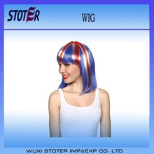 cheap football fans wig,party wig,crazy wig