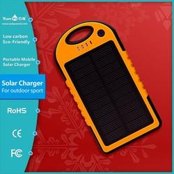 Hot sale 5000mAh Energy saving fashion portable Solar Charger Power Bank Backup Battery External battery