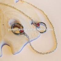 BN00197 2CM pink rhinestone sexy women piercing nipple chain ring