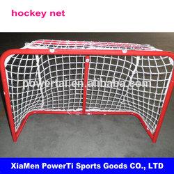Portable ice hockey post with net, steel frame hockey goal net set