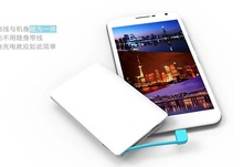 Innovative products for sale power banks with charging line built-in, new products on market power bank with cable