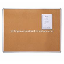Aluminum framed soft cork board bulletin board
