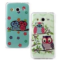 Glitter Owl TPU Phone Case for Samsung Galaxy Core 2 G355H