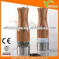 Bamboo salt and pepper mill 9516B Electric Pepper Mill