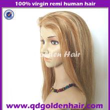 Streaks color European Virgin Remy Hair Jewish Wigs Kosher Wig