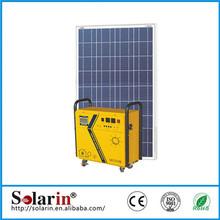 High quality CE ROHS solar dc ac 50hz 2kw high efficiency AC solar home system off grid 10w