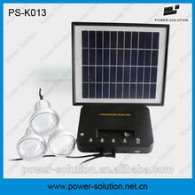 Lighing and mobile phone charging mini solar kits