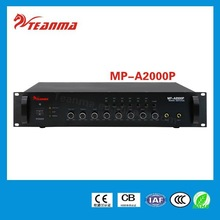 Popular TEANMA MP-A2000P Audio Amplifier 660w Power Mixer with 6 zones OEM/ODM