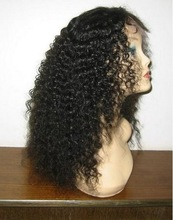 100% human hair unprocessed wholesale grade 7A afro kinky curly lace front wigs