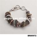 hot novos produtos por atacado de jóias de ouro antigo charme frisada pulseira