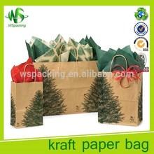 Cheap wholesale reusable shopping bags brown kraft paper bags
