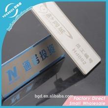 Plaques de métal, étiquette avec dos adhésif, personnalisé étiquettes autocollantes