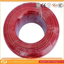 teflon silver plated electrical wire, silver coated solid PTFE copper wire, single strand copper electrical wire