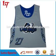 Custom made kid's lacrosse shirt lacrosse pinny sportswear lacrosse clothing