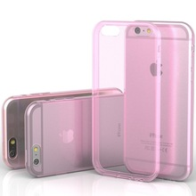 wholesale factory price New crystal clear transparent soft silicone TPU case for iPhone 6