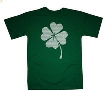 2015 new fashion shamrock stripes four leaf clover 100% cotton T-Shirt xxx xxx