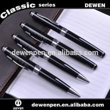 promo logo gift metal ball pen set Classical gift roller pen, metal pen set