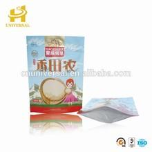 Custom resealable zipper kraft paper food packaging bags