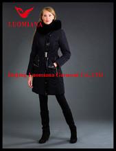 2014 best orange long trench slim jacket winter coat