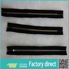 High quality No 5 metal zipper brass teeth close end without zips stop,slider and pull for handbags