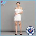 White Lace Knee Length Dress Univision Boutique Bandage Dress Cheap China Wholesale Clothing yihao