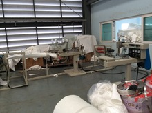 semi-automatic filter bag production line / sewing machine